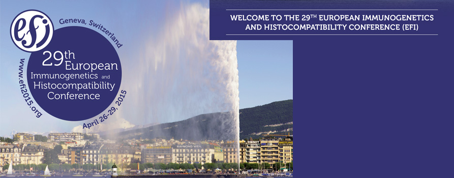 29th European Immunogenetics and Histocompatibility Conference